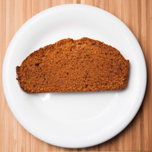 Slice of gingerbread.