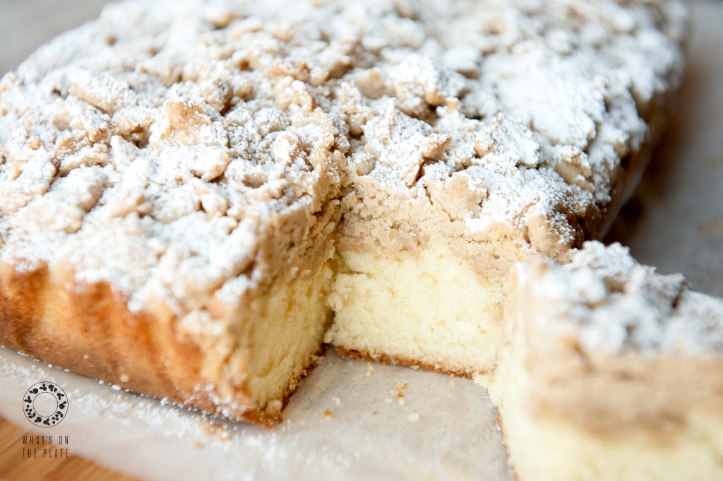 New York - Style Crumb Cake - What's on the Plate