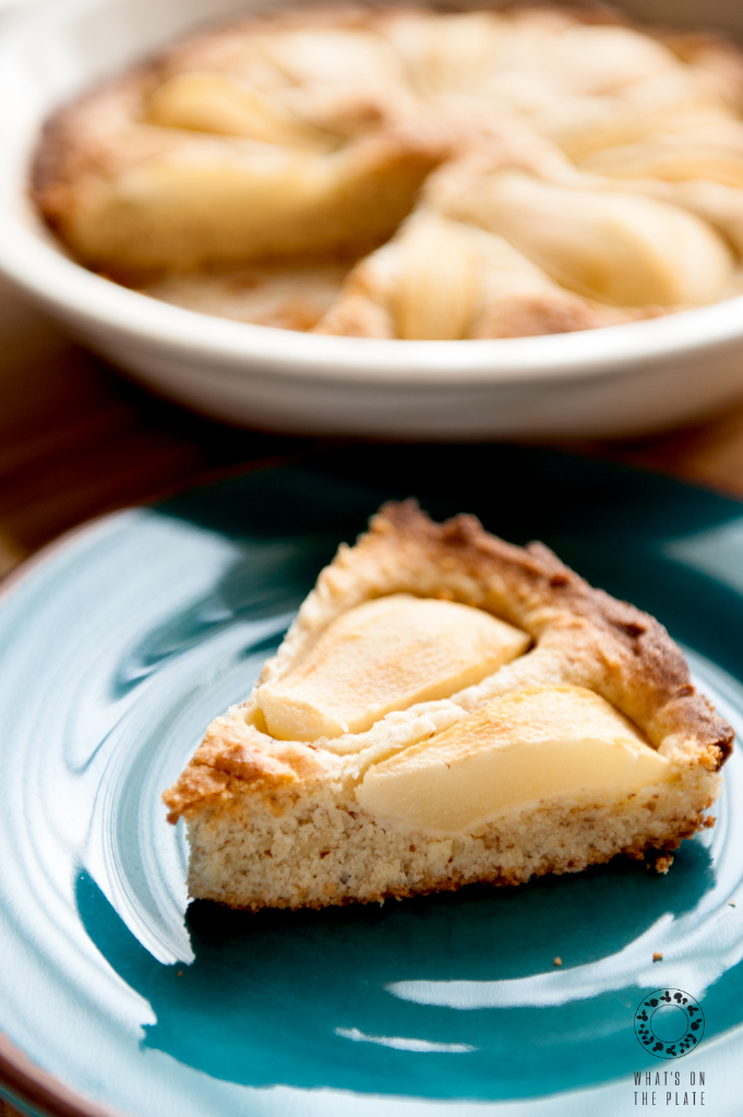 slice of pear tart