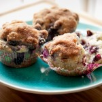 blueberry muffins side