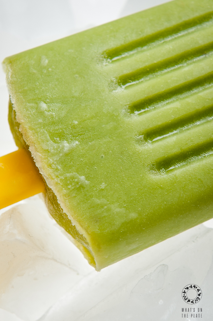 avocado ice pop close up