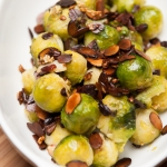 <a href=&quot;http://www.whatsontheplate.com/brussels-sprouts-with-garlic-and-almonds/&quot;>Brussels Sprouts with Garlic and Almonds</a>