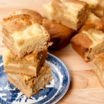 <a href=&quot;http://www.whatsontheplate.com/cream-cheese-blondies/&quot;></a>Cream Cheese Blondies