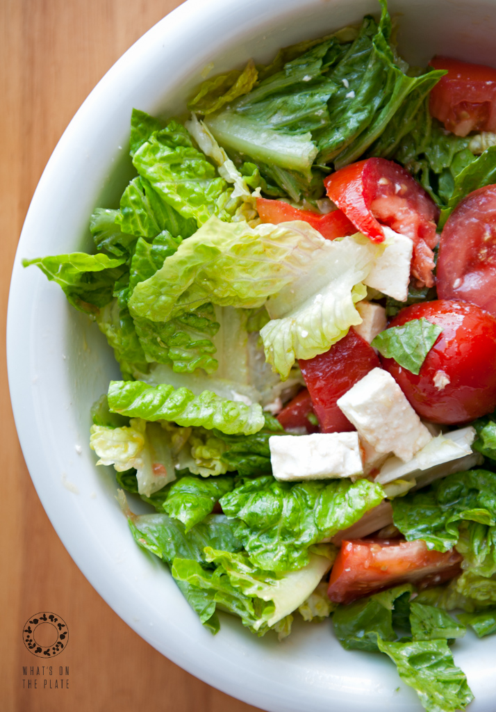 Easy Peasy Romaine Lettuce Salad - What's on the PlateWhat ...